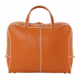 Travel Bag Nappa orange-offwhite
