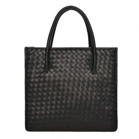 Square Bag Nappa Woven Black